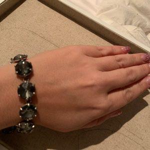 Stella & Dot Smokey Grey Somervel Bracelet